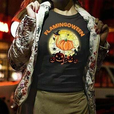 Flamingo Halloween for Spider Pumpkin Witch Halloween Costume Clothing Gift T-Shirt Long Sleeve Sweatshirt Hoodie Jolly Family Gifts