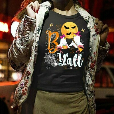 Flamingo Boo Y'all Trick or Treat Impressive Perfect Gifts idea For Yourself And Funny Friends Flamingo Boo Witch Halloween squad T Shirt Long Sleeve Sweatshirt Hoodie Jolly Family Gifts