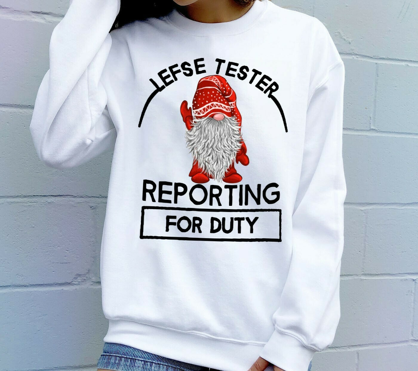 Lefse Tester Reporting For Duty Nordic Purple Gnome Christmas,Scandinavian Gnome Tomte Tee T shirt Long Sleeve Sweatshirt Hoodie Jolly Family Gifts