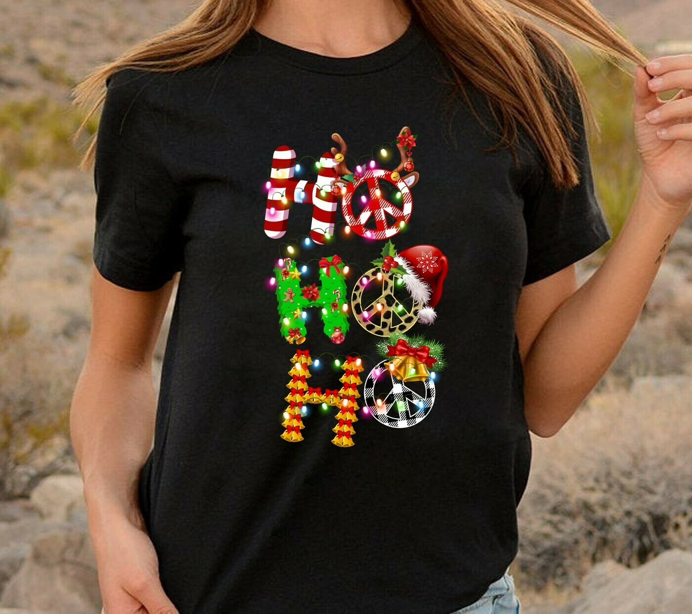 HoHoHo Reindeer,Santa Hat,Bells Christmas,Hoho Homo LGBT Ugly,Ho Power 3 Cubed Math Lovers,HoHoHo Buffalo Plaid and Cheetah T Shirt Long Sleeve Sweatshirt Hoodie Jolly Family Gifts