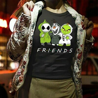 Jack Skellington and Charlie Brown Snoopy laugh Nightmare Before Christmas,Star Wars Yoda The Grinch Stole Christmas,Noel Holly T-Shirt Long Sleeve Sweatshirt Hoodie Jolly Family Gifts