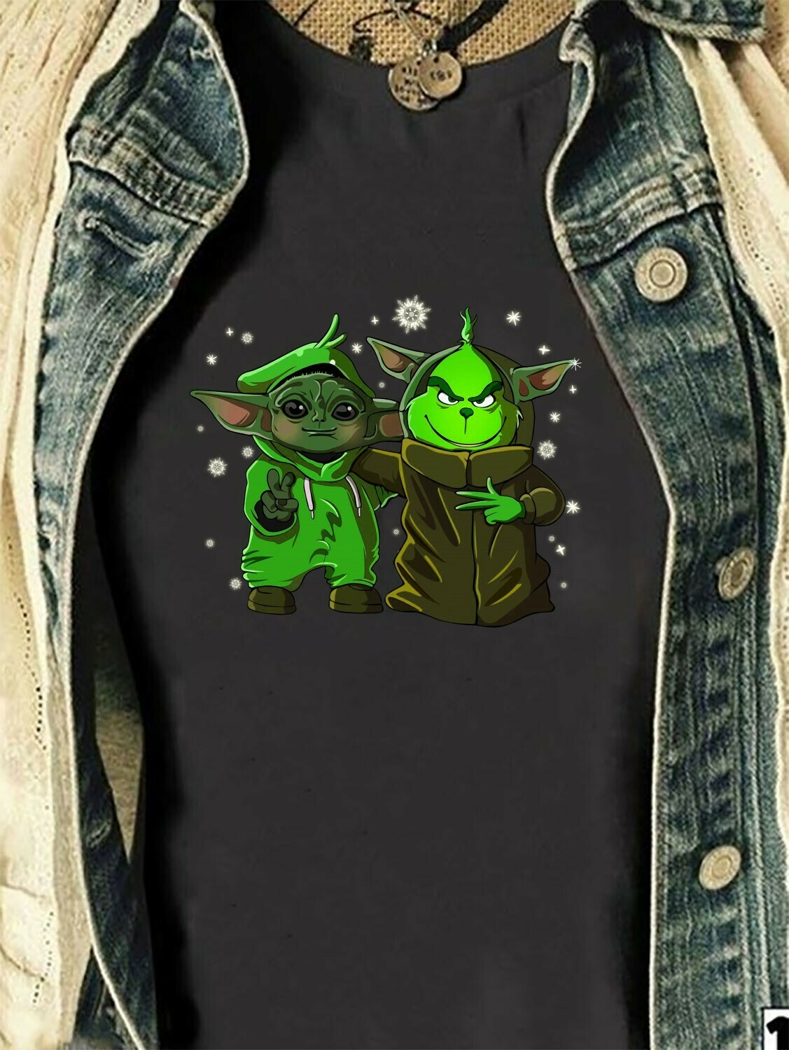 Baby Yoda Star Wars The Mandalorian The Child When Your Song Comes On,Baby Humanoid Movie Film Family Star Wars Shirts,Jedi Squad T- Shirt Long Sleeve Sweatshirt Hoodie Jolly Family Gifts