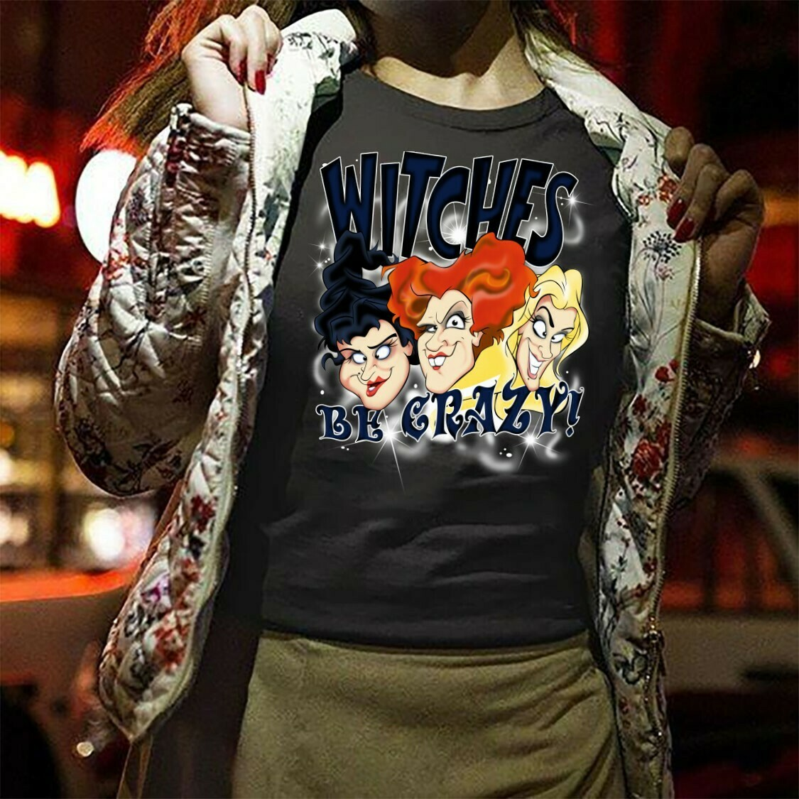 Witches Be Crazy Sanderson Sisters Hocus Pocus Witch Halloween Squad Villains Bad Girls Have More Fun Walt Disney World Vacation T-Shirt Long Sleeve Sweatshirt Hoodie Jolly Family Gifts
