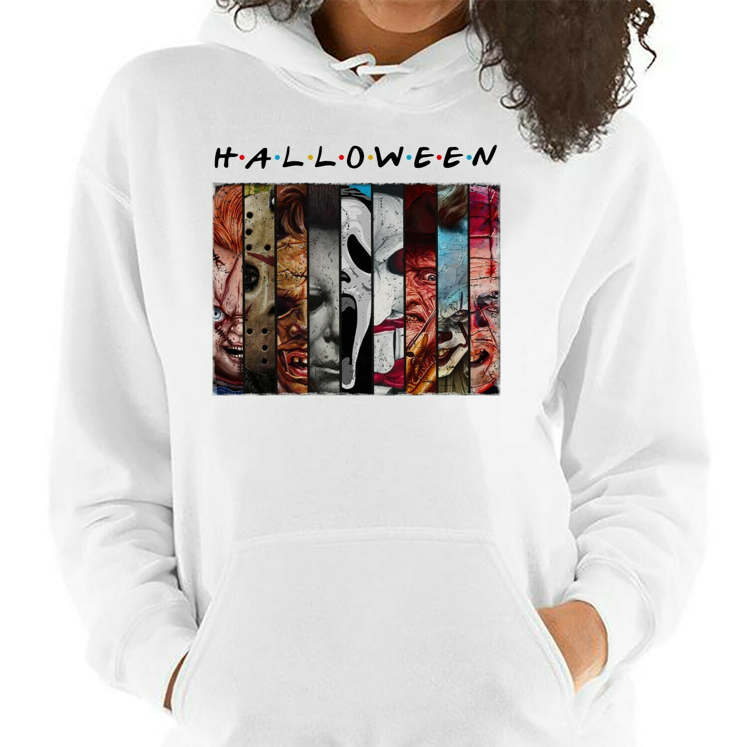 Halloween Horror Character Squad Friday The 13th Gifts For Fan Movie Villains Halloween Horror Movie Mashup Squad Not So Scary T-Shirt Long Sleeve Sweatshirt Hoodie Jolly Family Gifts