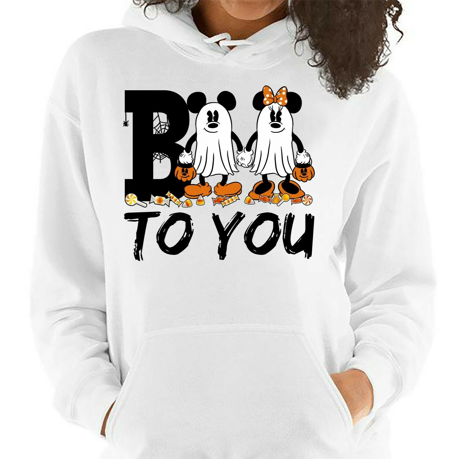 Disney Mickey & Minnie Cosplay Boo To You Trick Or Treat Halloween I'm going to Walt Disney Vacation Family Let's Go to Disney World T Shirt Long Sleeve Sweatshirt Hoodie Jolly Family Gifts
