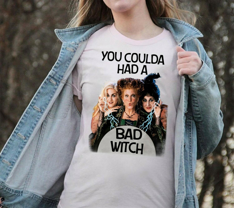 Halloween You Coulda Had A Bad Witch Sanderson Sisters Hocus Pocus Mandala Disney Villains Halloween T Shirt Long Sleeve Sweatshirt Hoodie Jolly Family Gifts