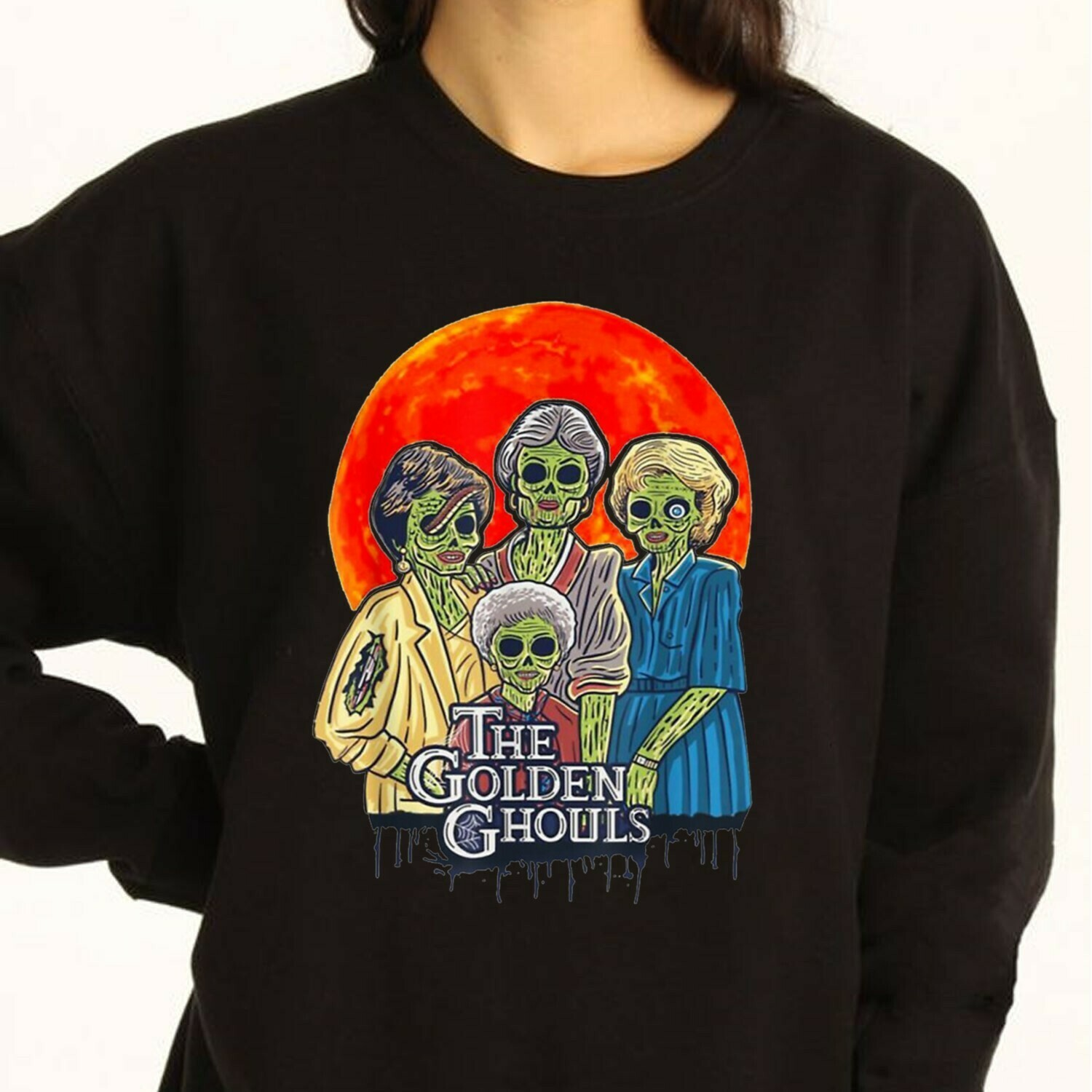 The Golden Ghouls Horror Hocus Pocus Witches Sanderson Sisters Mandala Disney Villains Halloween Colored T-Shirt Long Sleeve Sweatshirt Hoodie Jolly Family Gifts