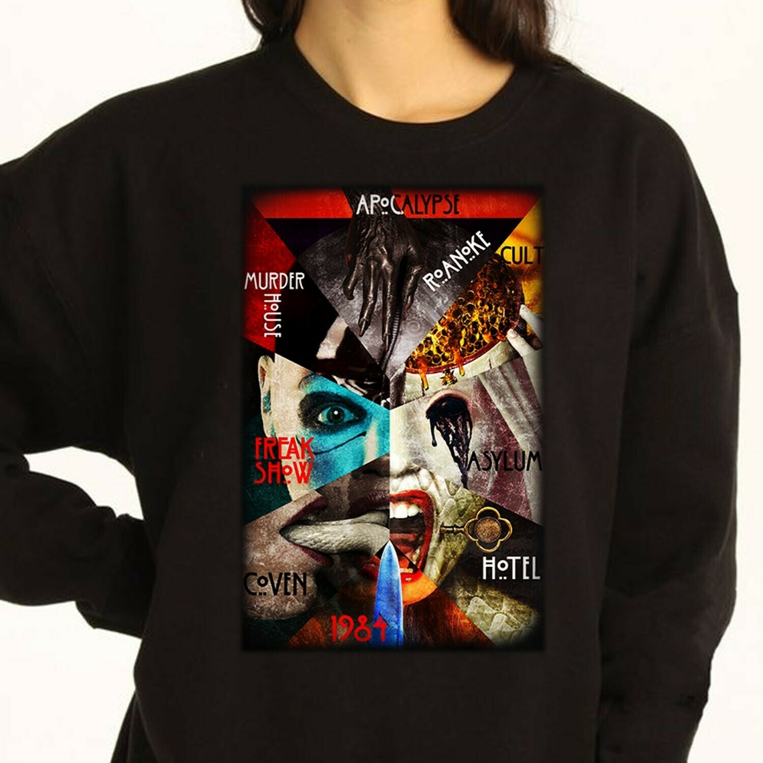 Collection horror movie choice Halloween design Halloween vacation gift T-shirt Long Sleeve Sweatshirt Hoodie Jolly Family Gifts
