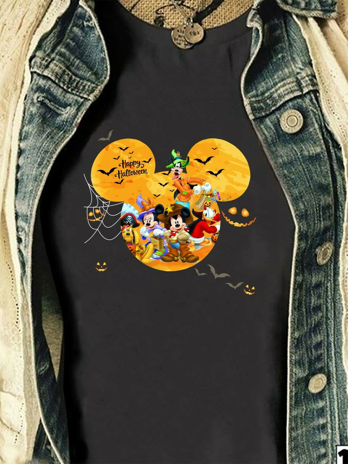 Disney Mickey Mouse Friends Happy Halloween Pumpkin Trick Or Treat I'm going to Walt Disney Vacation Family Let's Go to Disney World Shirt Long Sleeve Sweatshirt Hoodie Jolly Family Gifts