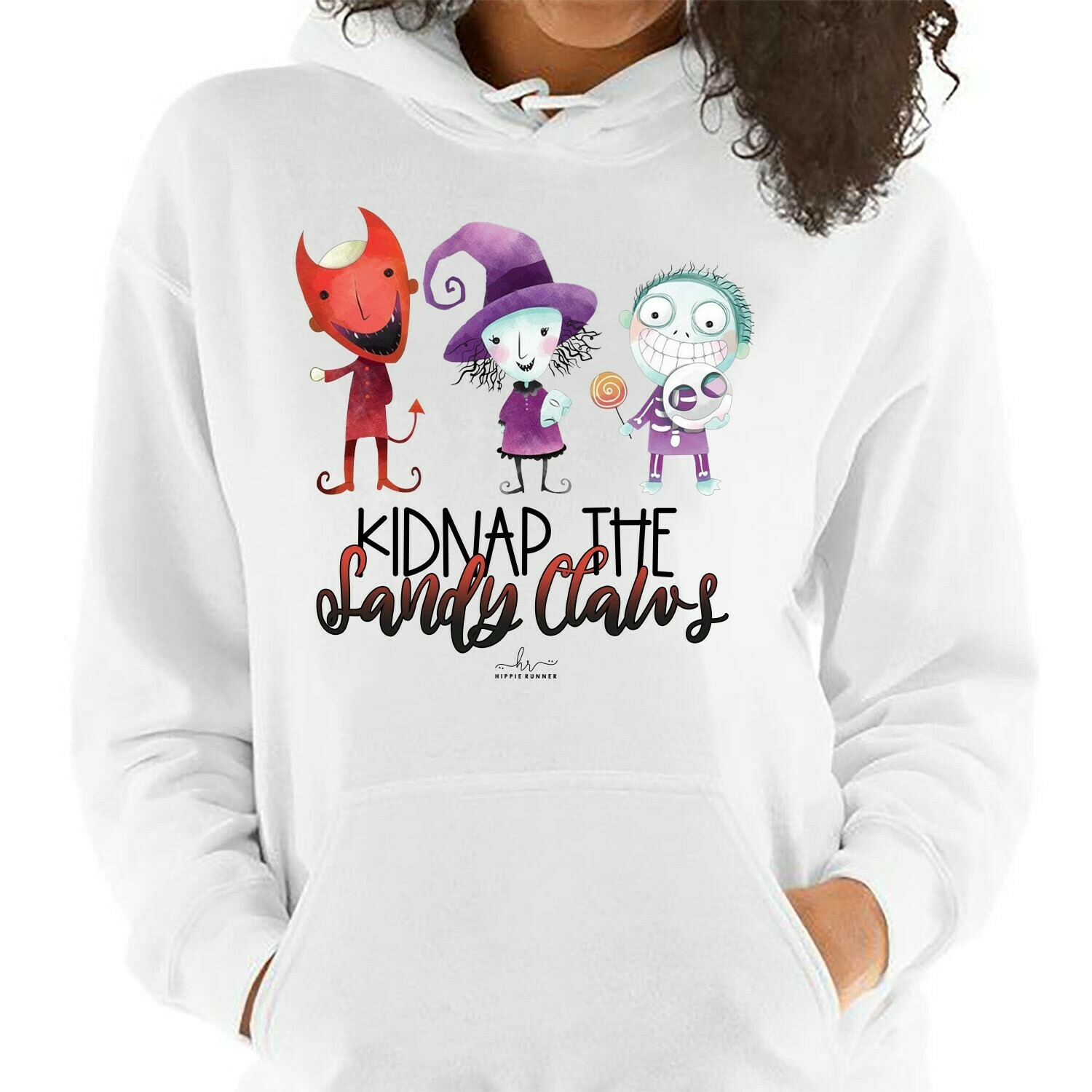 Cute Kids Cosplay Inspired Kidnap The Sandy Claws The Nightmare Before Christmas Disney Villain Halloween Mickey Not So Scary T-Shirt Long Sleeve Sweatshirt Hoodie Jolly Family Gifts