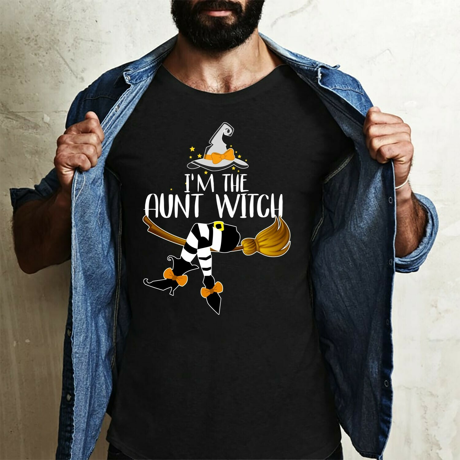 I'm The Aunt Witch Gifts For Love Auntlife BAE Best Aunt Ever on Halloween Day T-Shirt Long Sleeve Sweatshirt Hoodie Jolly Family Gifts