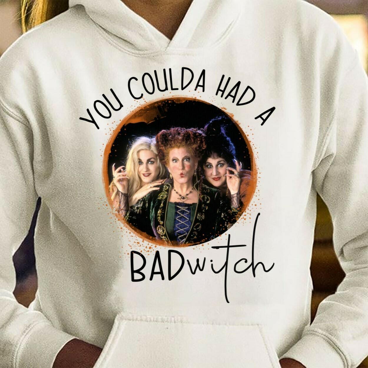 Halloween You Coulda Had A Bad Witch Sanderson Sisters Hocus Pocus Mandala Disney Villains Have More Fun Walt Disneyland Park T-Shirt Long Sleeve Sweatshirt Hoodie Jolly Family Gifts