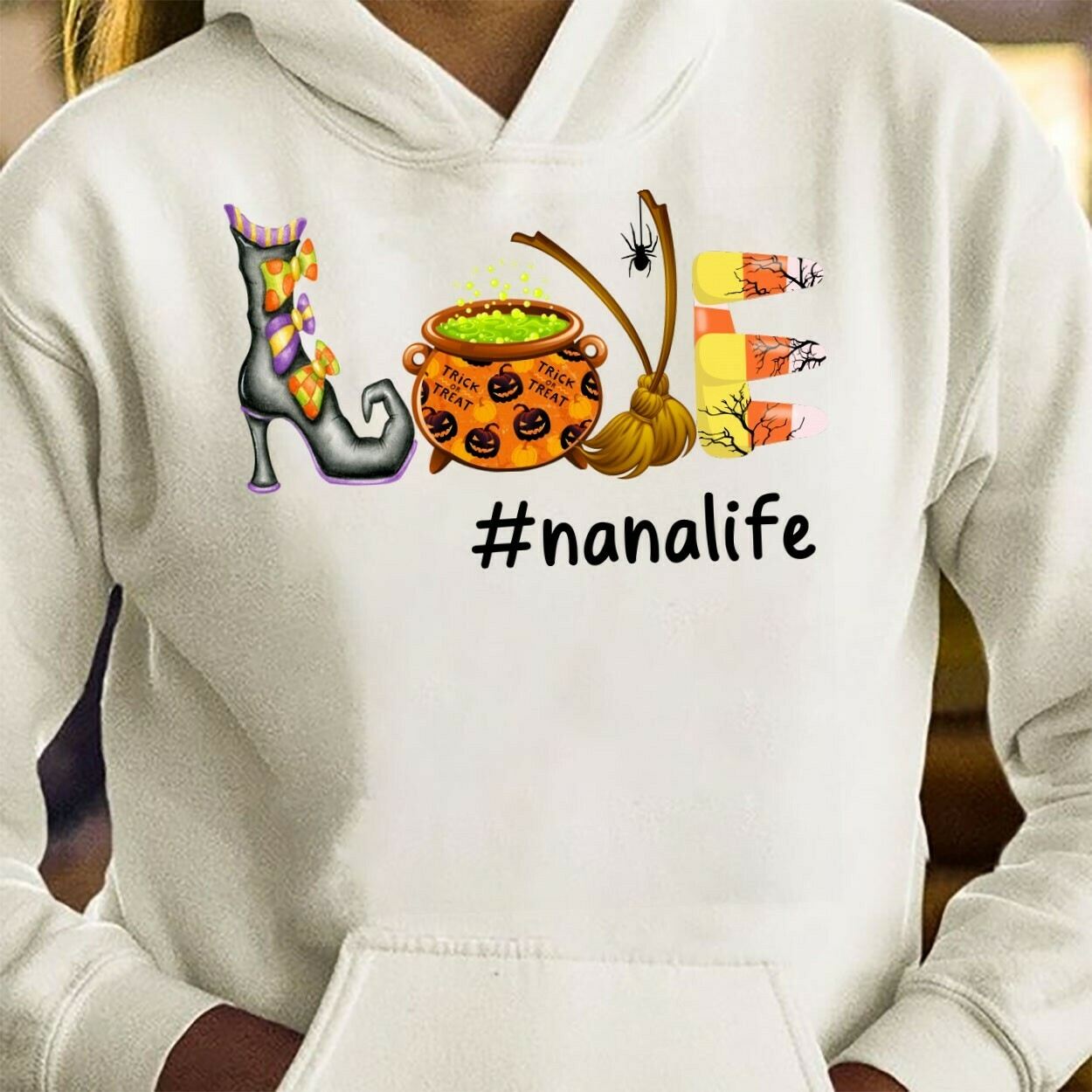 Love Nanalife Halloween Gifts T-Shirts for Nana Grandmother Mother Family On Halloween Vacation Shirt Tee Long Sleeve Sweatshirt Hoodie Jolly Family Gifts