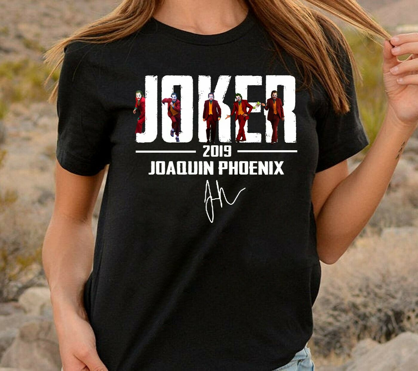 Joker 2019 Movie Joaquin Phoenix Gifts Idea For Fans Here Comes Your Favorite Super Villain Halloween Horror Movie Unisex T-Shirt Long Sleeve Sweatshirt Hoodie Jolly Family Gifts