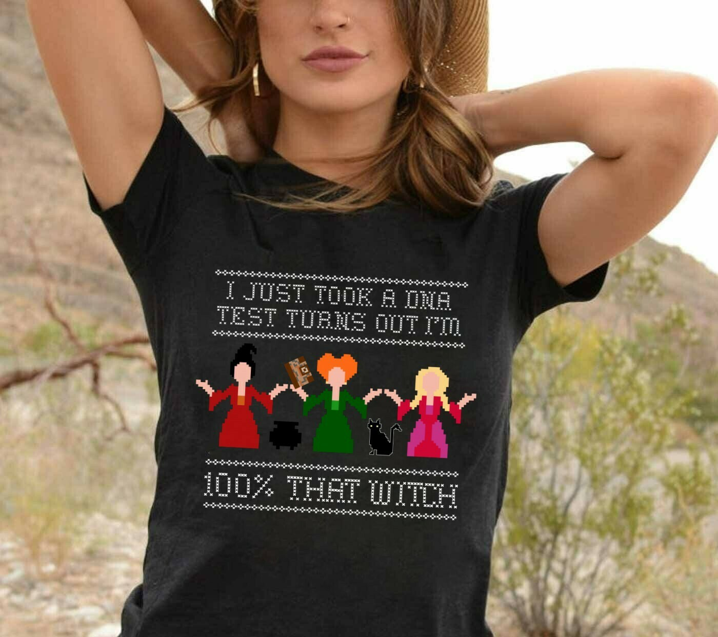Sanderson Sisters Witch I Just Took A DNA Test Turns Out I'm 100% That Witch Bad Girls Have More Fun Walt Disney World Vacation T-Shirt Long Sleeve Sweatshirt Hoodie Jolly Family Gifts