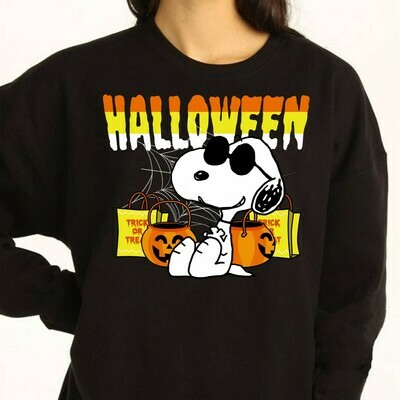 Snoopy Halloween Pumpkin Jack O Lantern Trick Or Treat Costume Gifts for Best Friend Family Vacation Gifts T-Shirt Long Sleeve Sweatshirt Hoodie Jolly Family Gifts