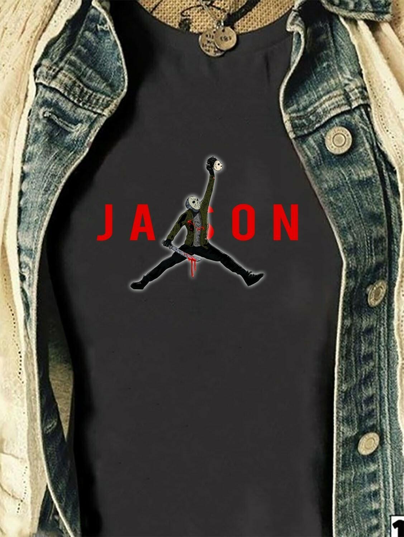 Horror Jason Voorhees Friday The 13th Villains Halloween Movie Mashup Halloween Squad Tee T-Shirt Long Sleeve Sweatshirt Hoodie Jolly Family Gifts