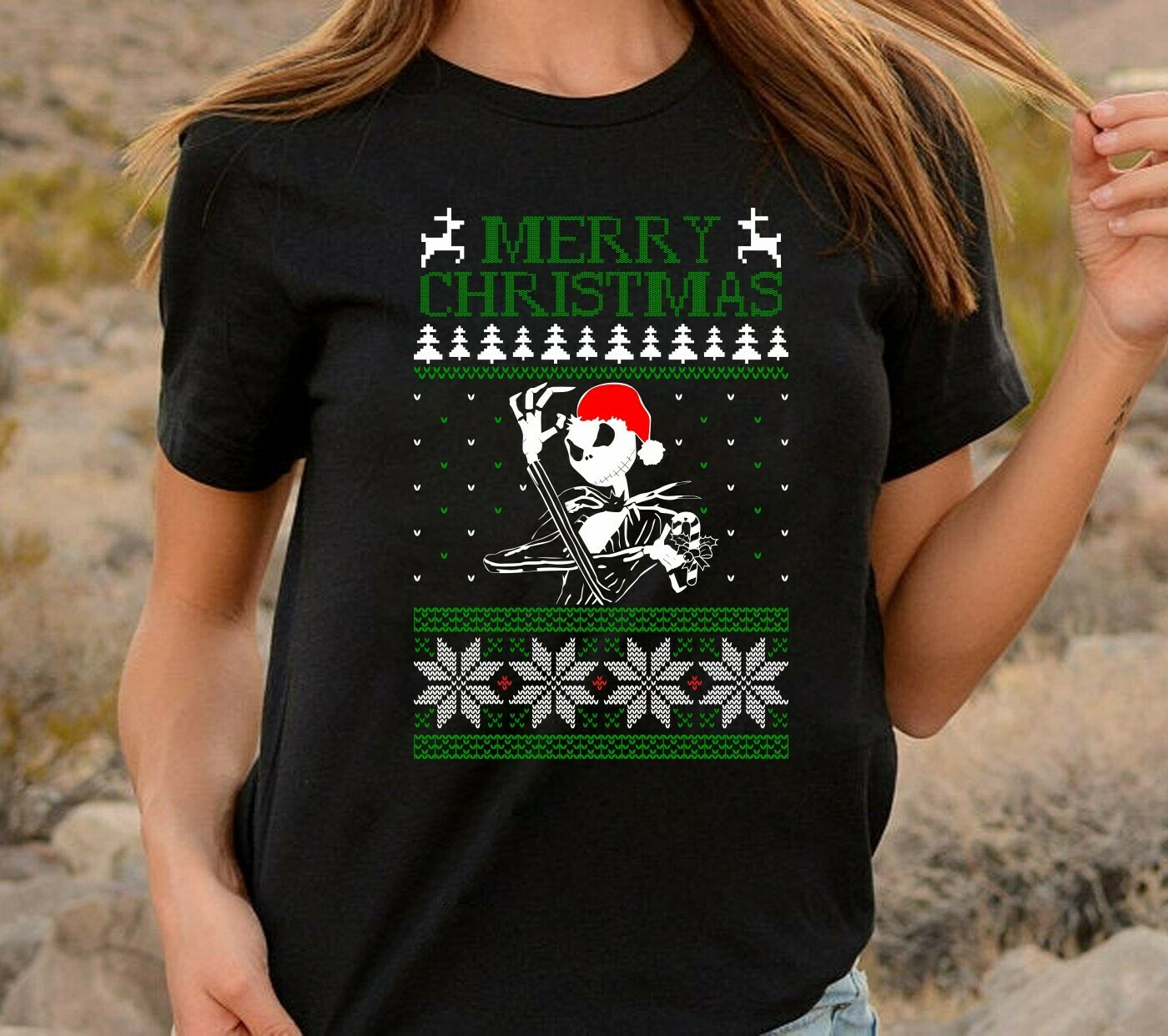 Jack Skellington Merry Christmas Hocus Pocus The Nightmare Before Christmas Halloween Disney Villains Halloween Mickey Not So Scary T-Shirt Long Sleeve Sweatshirt Hoodie Jolly Family Gifts
