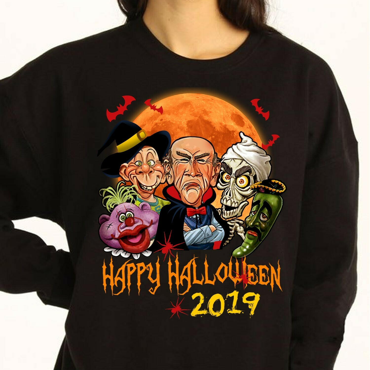 happy halloween 2019 Long Sleeve Sweatshirt Hoodie Jolly Family Gifts