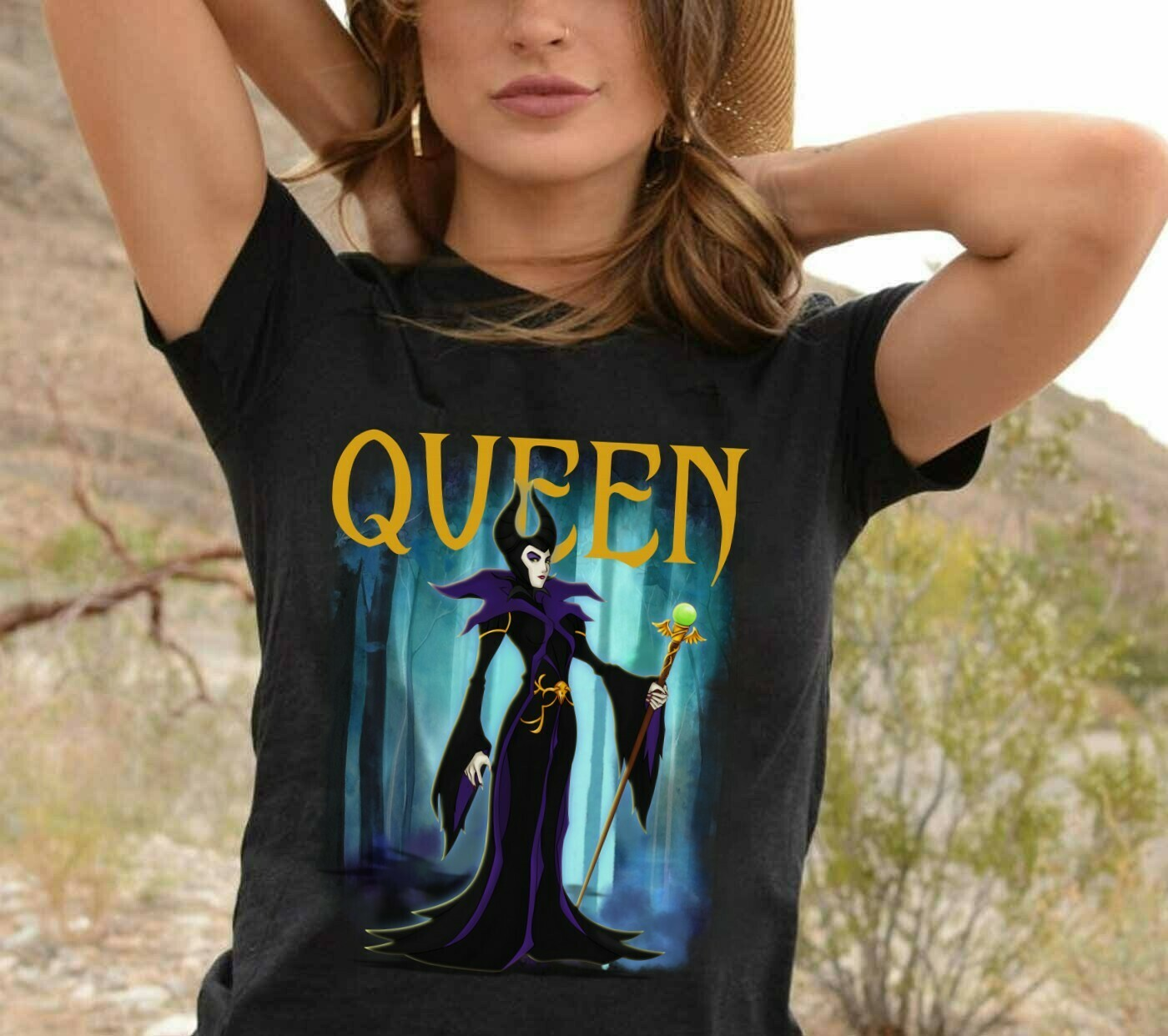 Queen Maleficent Disney Villains Bad Girls Have More Fun Walt Disney World Disneyland Park Family Vacation T Shirt Long Sleeve Sweatshirt Hoodie Jolly Family Gifts
