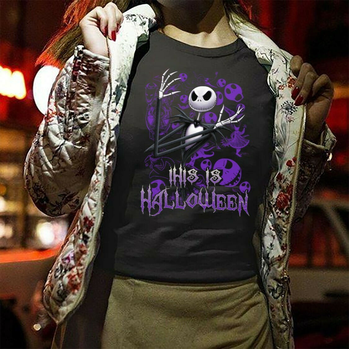 This Is Halloween - Jack Skellington The Nightmare Before Christmas Halloween, Disney Villains Halloween Mickey Not So Scary T Shirt Long Sleeve Sweatshirt Hoodie Jolly Family Gifts
