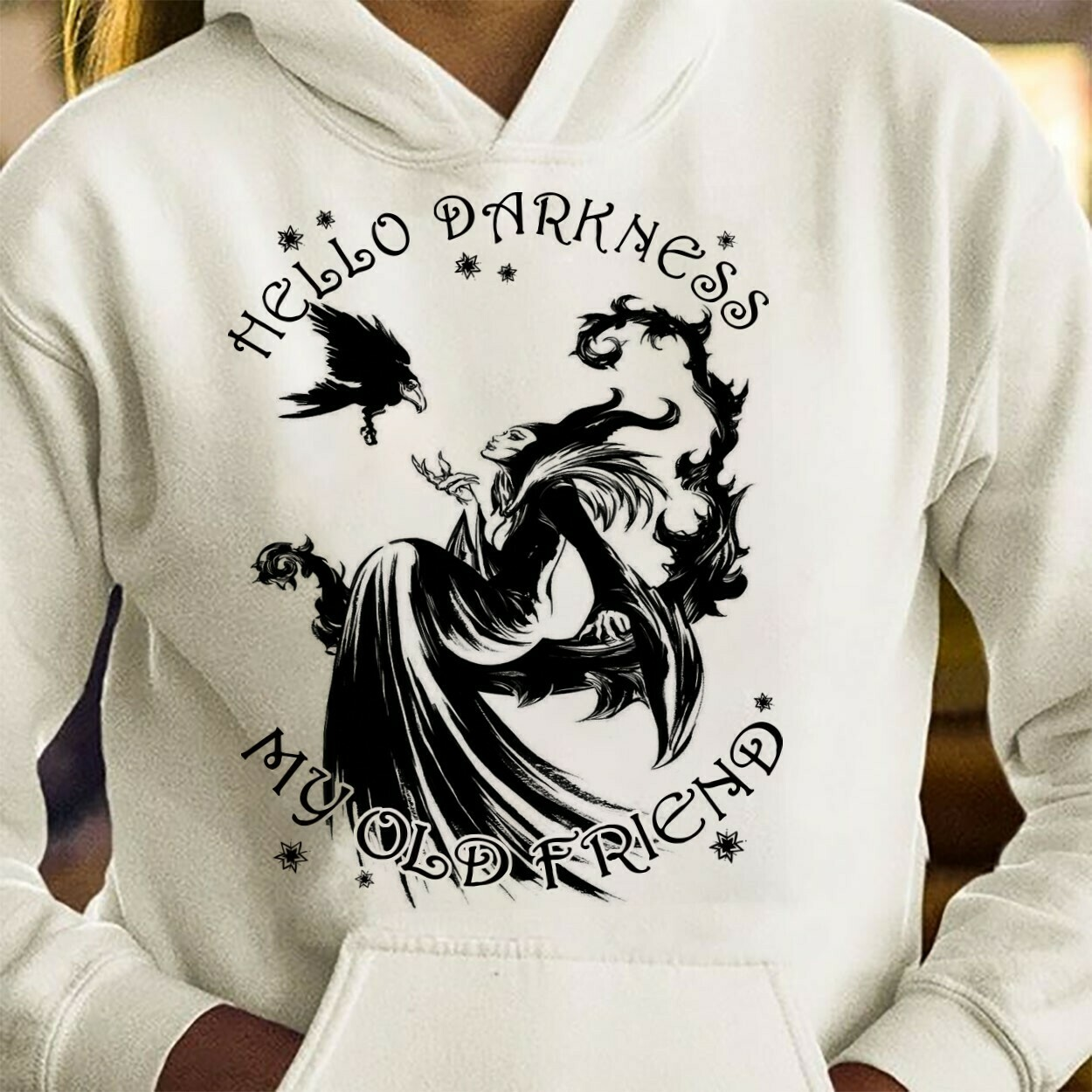 Hello Darkness My Old Friend Maleficent Disney Villains Bad Girls Have More Fun Walt Disney World Disneyland Park Family Vacation T Shirt Long Sleeve Sweatshirt Hoodie Jolly Family Gifts