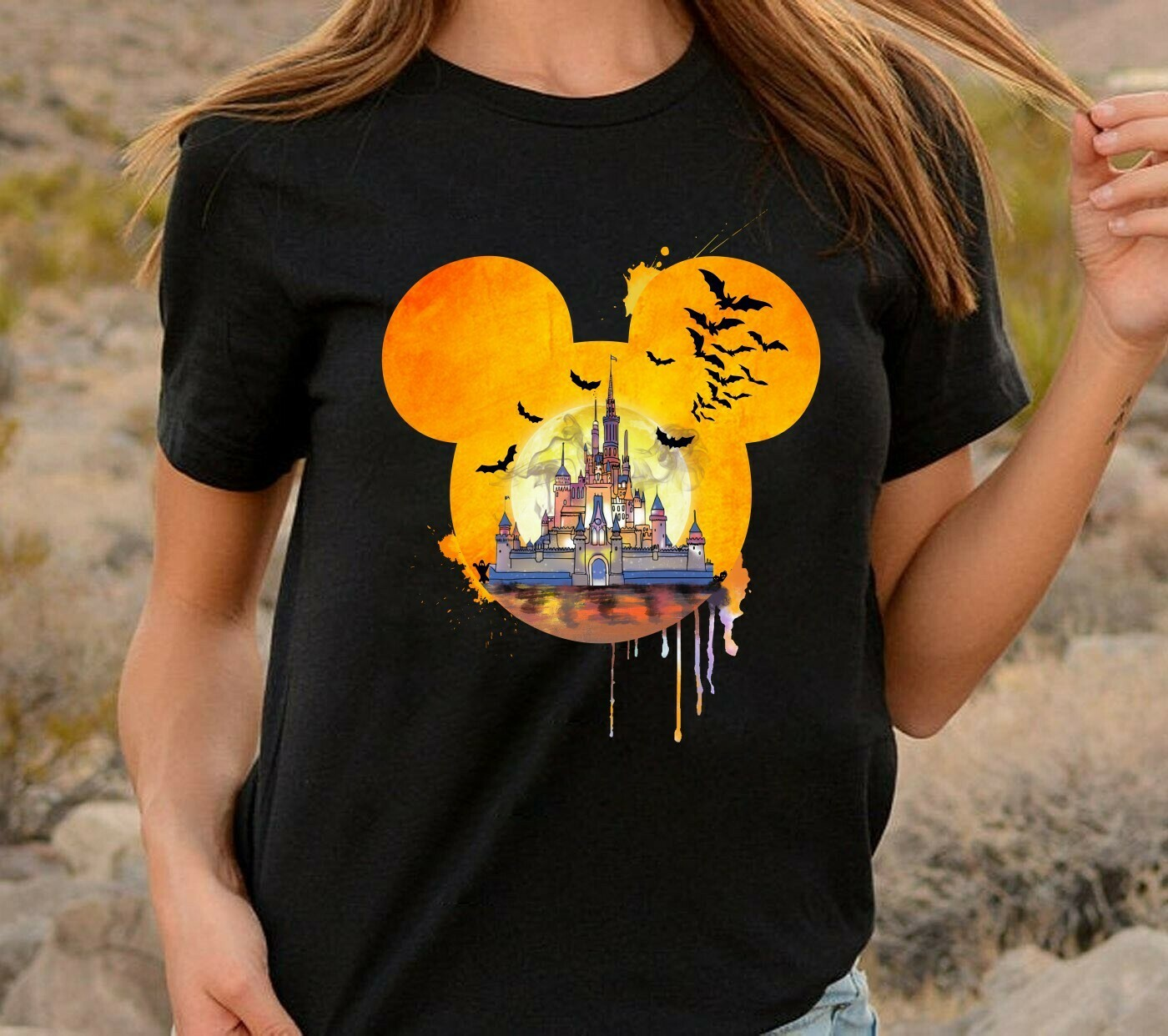 Disney Halloween Castle I'm going to Walt Disney Vacation Family Let's Go to Disney World Disneyland Tee Park T Shirt Long Sleeve Sweatshirt Hoodie Jolly Family Gifts