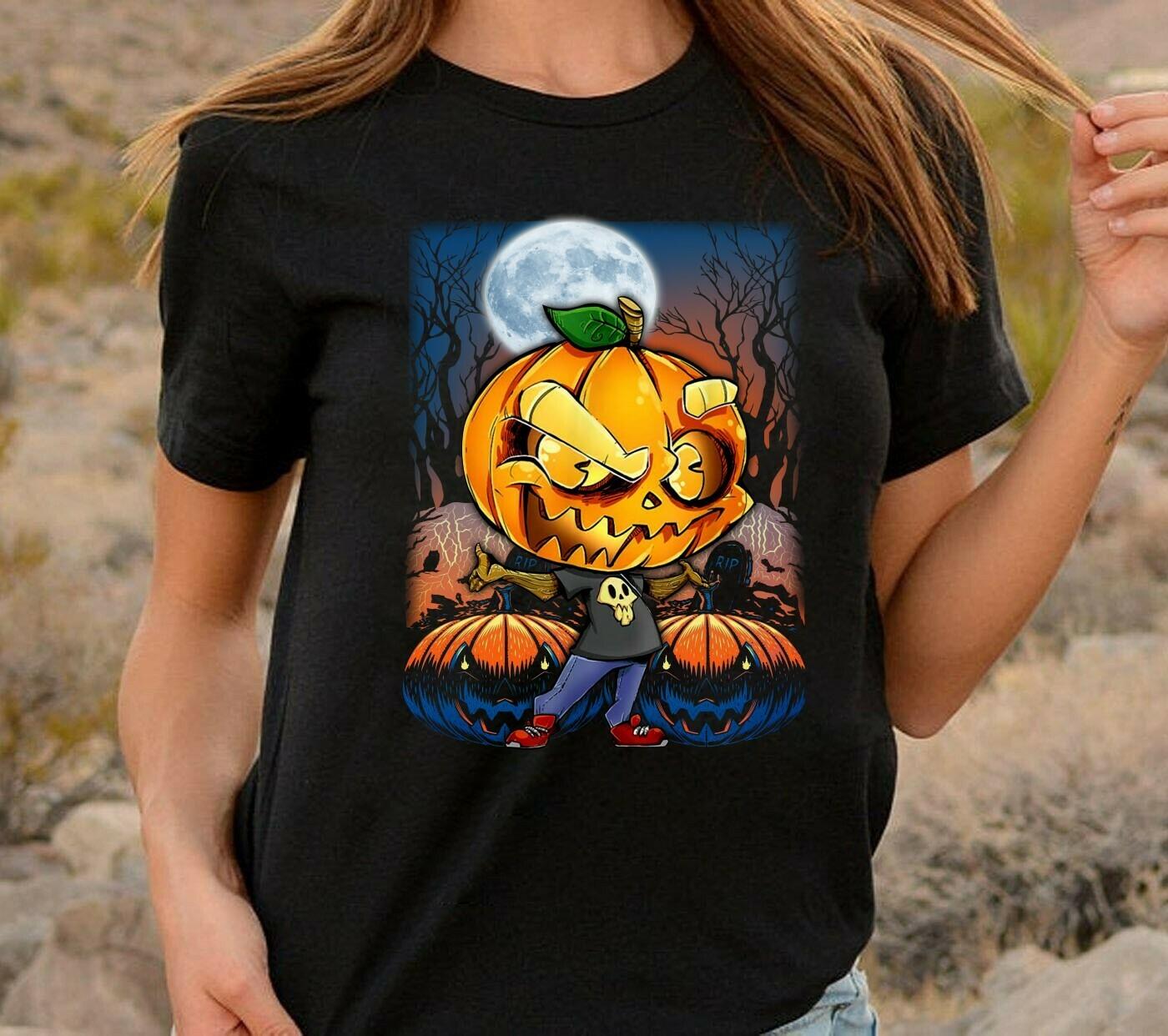 Pumpkin Boy gift shirt for Lovers Halloween day, Boys Pumpkin Shirt, Pumpkin not So Scary Gift Idea Long Sleeve Sweatshirt Hoodie Jolly Family Gifts