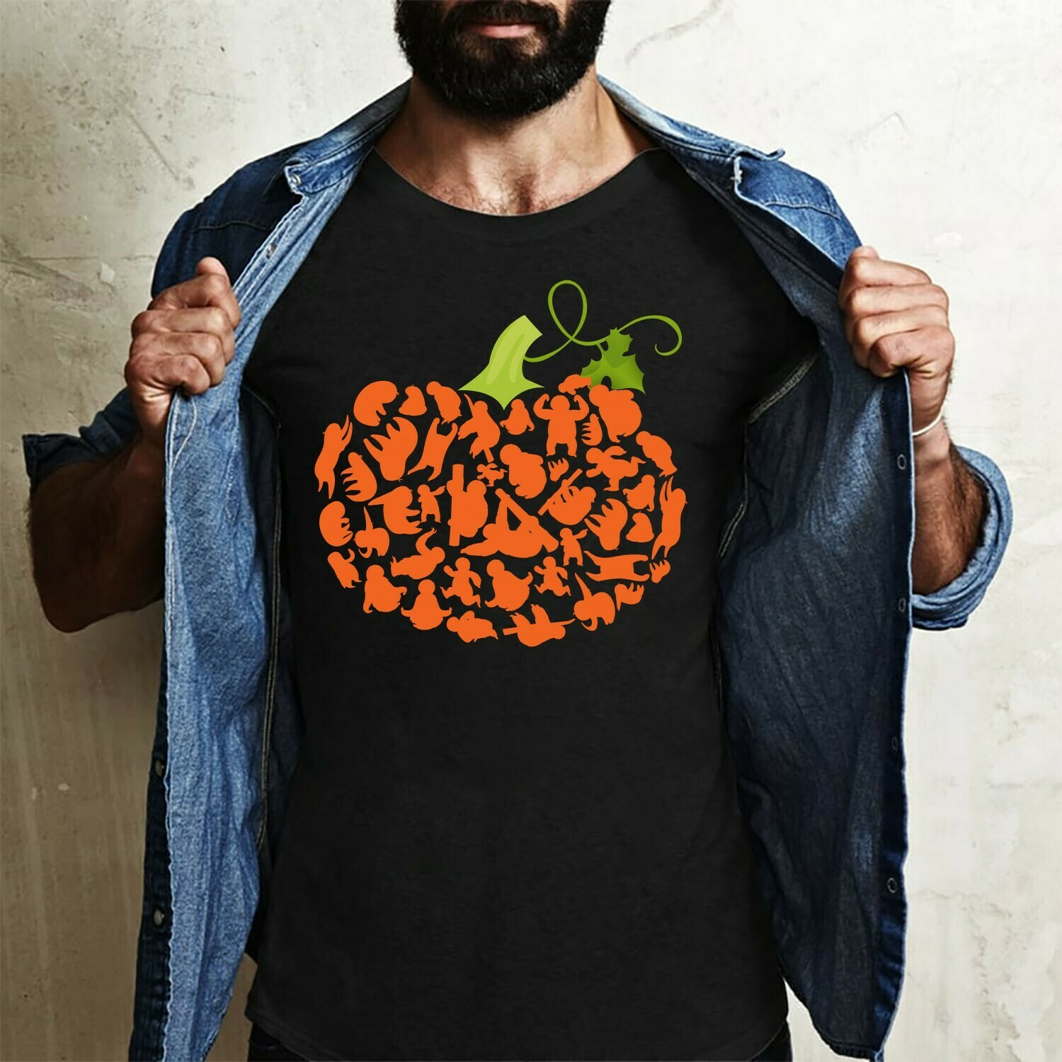 Pumpkin Sloth - Cute Sloth enthusiasts Gift Pumpkin lovers, T Shirt For Friends Team Group Halloween day Long Sleeve Sweatshirt Hoodie Jolly Family Gifts