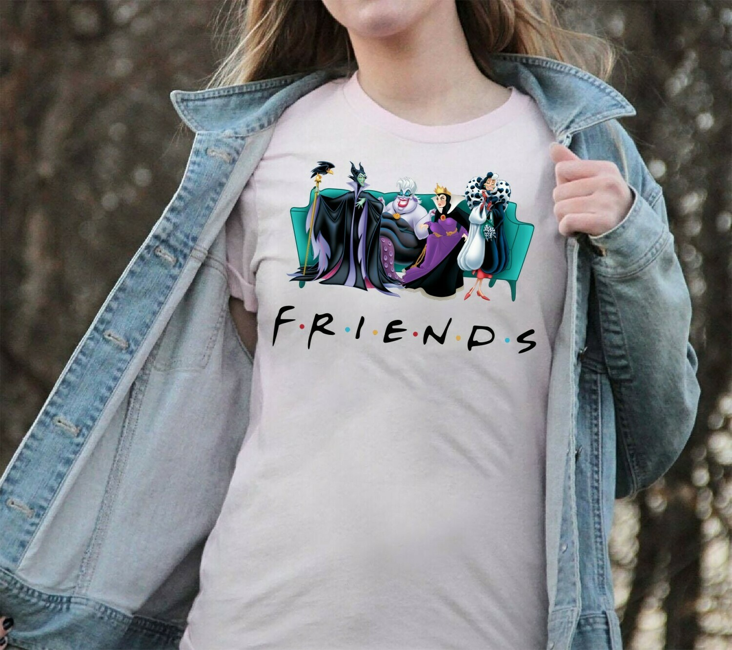 Friends Maleficent Evil Queen Ursula Cruella De Vil Disney Villains Bad Girls Have More Fun Walt Disney World Park Family Vacation T Shirt Long Sleeve Sweatshirt Hoodie Jolly Family Gifts