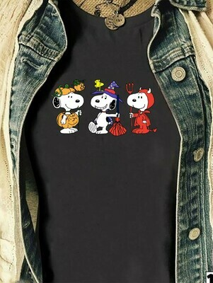 Funny Snoopy Cosplay Witch Vampire, Snoopy And Peanuts shirt Trick Or Treat Gifts for Best Friend Family Vacation Party Unisex T-shirt Long Sleeve Sweatshirt Hoodie Jolly Family Gifts
