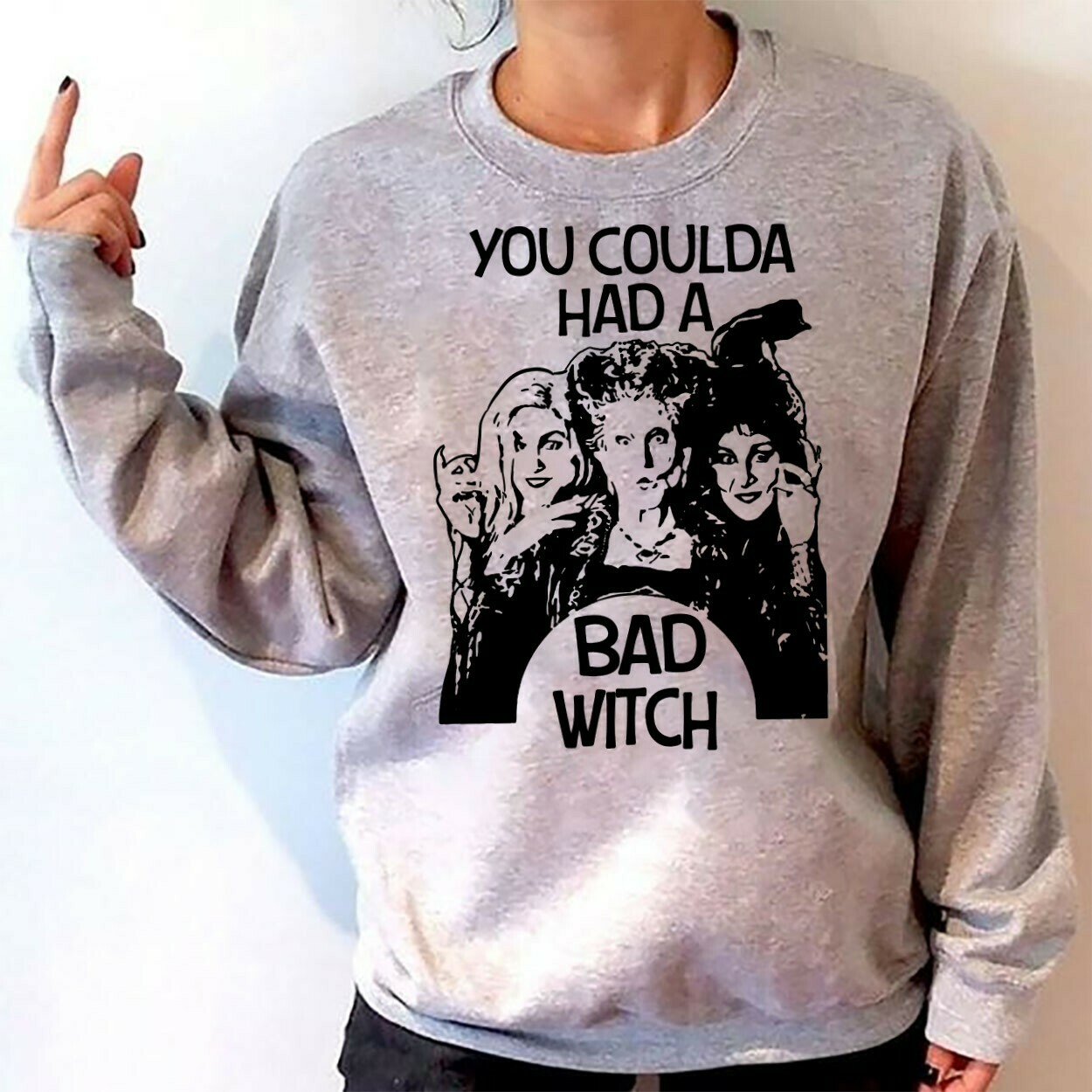 You Coulda Had A Bad Witch, Sanderson Sisters Funny Hocus Pocus Mandala Disney Villains Halloween Mickey Not So Scary T Shirt Long Sleeve Sweatshirt Hoodie Jolly Family Gifts
