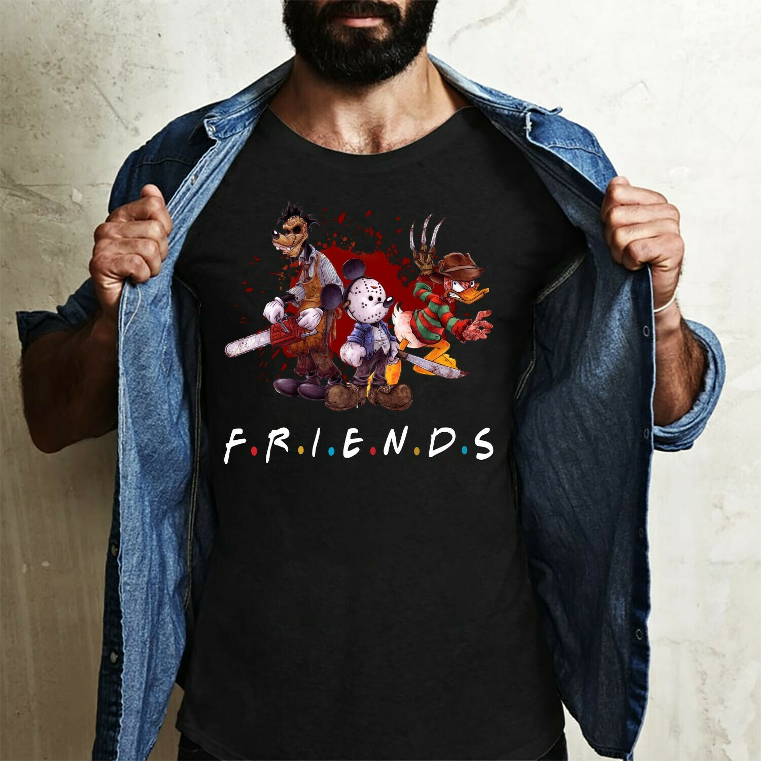 Friends Disney Mickey Mouse And Friends Funny Squad Goals Horror Movie Hocus Pocus Mandala Disney Villains Halloween Not So Scary T-Shirt Long Sleeve Sweatshirt Hoodie Jolly Family Gifts