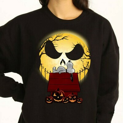 Halloween Nightmare Before Snoopy The Nightmare Before Christmas Halloween Costume Gifts for Best Friend Family Vacation Gifts T-Shir Long Sleeve Sweatshirt Hoodie Jolly Family Gifts