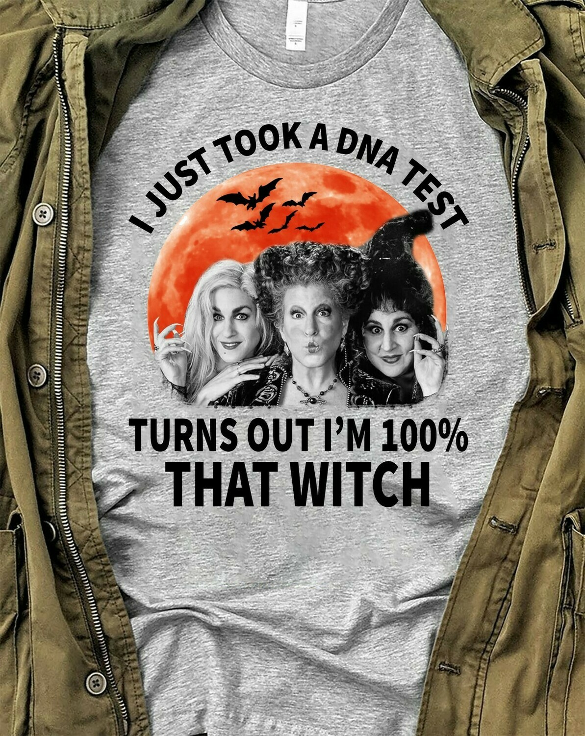 Sanderson Sisters I Just Took A DNA Test Turns Out I'm 100% That Witch Bad Girls Have More Fun Walt Disney World Disneyland Park T-Shirt Long Sleeve Sweatshirt Hoodie Jolly Family Gifts