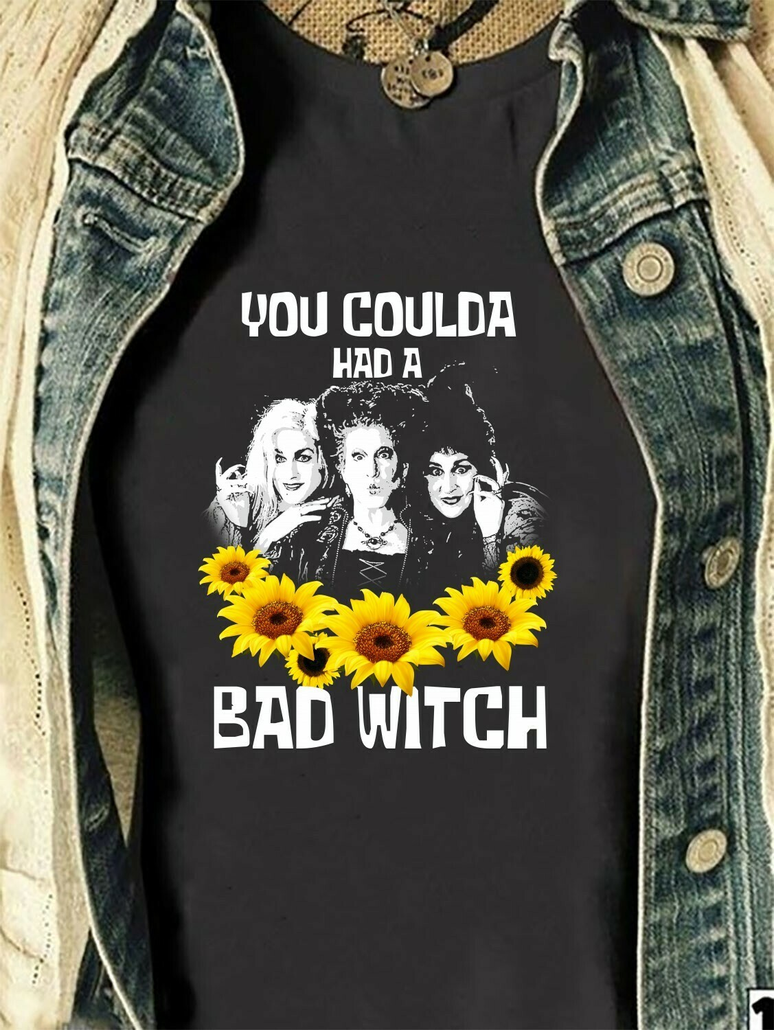 Sunflower Lover You Coulda Had A Bad Witch Sanderson Sisters Gifts Idea For Bad Girls Have More Fun Walt Disneyland Park Vacation T Shirt Long Sleeve Sweatshirt Hoodie Jolly Family Gifts
