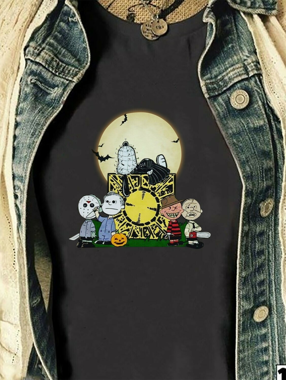 Funny Snoopy Friends Halloween Gift For Lover Snoopy Cosplay Horror Movie Halloween Movies Friday The 13th Villains Halloween Squad TShirt Long Sleeve Sweatshirt Hoodie Jolly Family Gifts