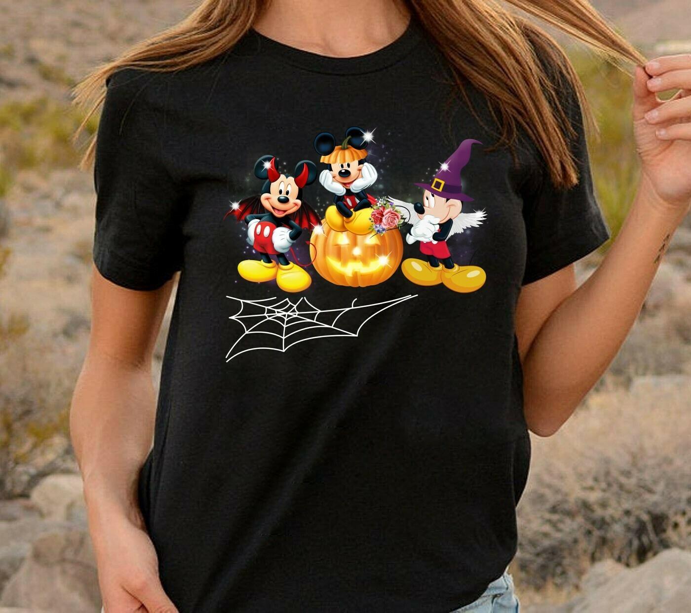 Disney Mickey Witch Vampire Halloween I'm going to Walt Disney Vacation Family Let's Go to Disney World Disneyland Tee Park T-Shirt Long Sleeve Sweatshirt Hoodie Jolly Family Gifts