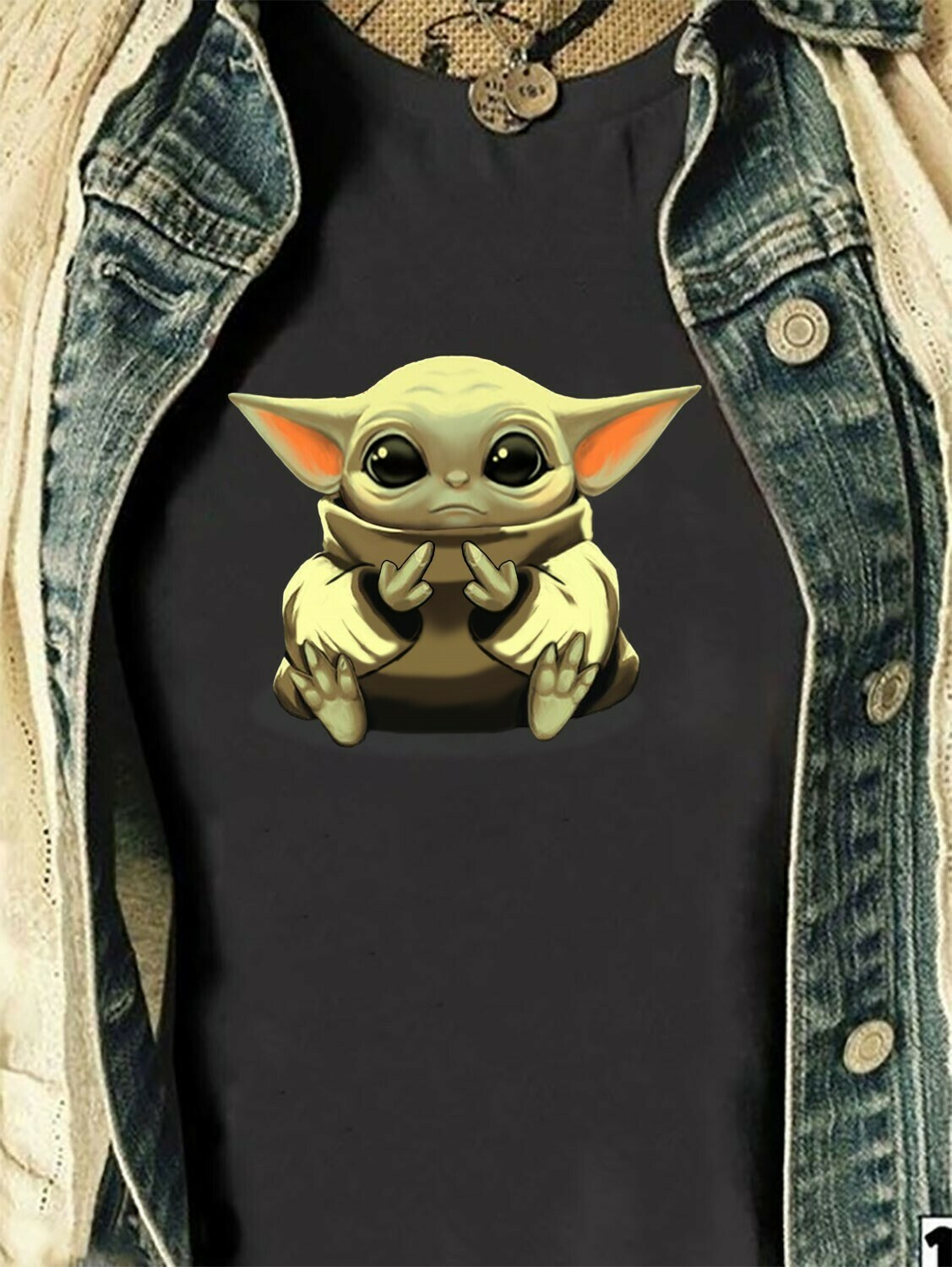 Baby Yoda christmas Spirit Animals,The Mandalorian The Child Discovery Silhouette,Baby Yoda The Child Unknown Species T-Shirt Long Sleeve Sweatshirt Hoodie Jolly Family Gifts