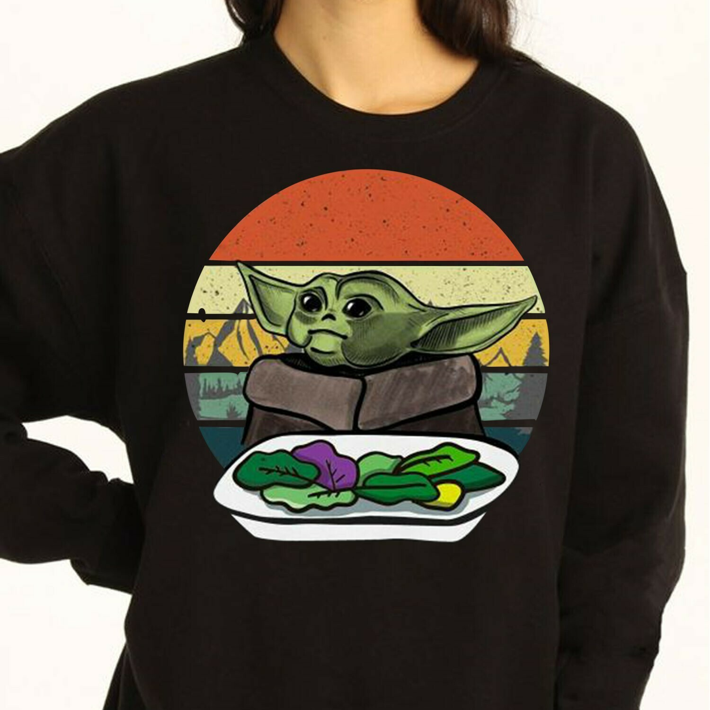 Baby Yoda Yelling At The Table,Star Wars The Mandalorian ugly Christmas,Baby Yoda eat a frog Coffee Mug Drinking Long Sleeve Sweatshirt Hoodie Jolly Family Gifts