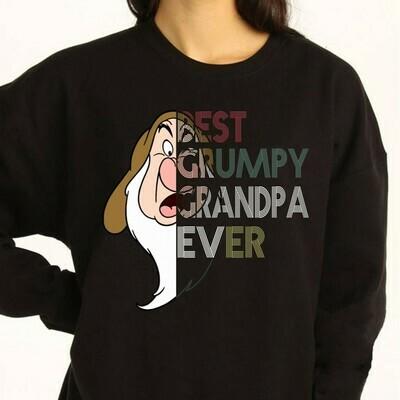 Disney Grumpy Best Grumpy Grandpa Ever,Snow White and the Seven Dwarfs,Walt Disney World,Disney Grumpy Old Man,Dopey Seven Dwarfs T Shirt Long Sleeve Sweatshirt Hoodie Jolly Family Gifts