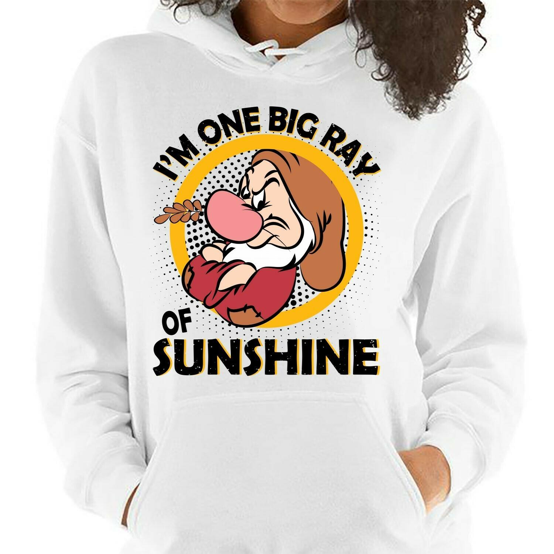Disney Grumpy Dwarfs I'm One Big Ray Of Sunshine,Snow White and the Seven Dwarfs,Walt Disney World,Grumpy Old Man,Dopey Seven Dwarfs T Shirt Long Sleeve Sweatshirt Hoodie Jolly Family Gifts