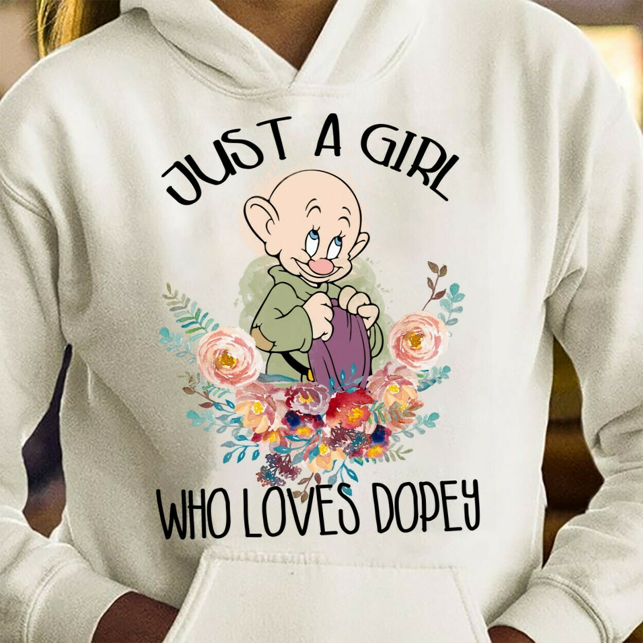 Dopey Dwarf Just A Girl Who Love Dopey,Snow White and the Seven Dwarfs,Walt Disney World,Disney Grumpy Old Man,Dopey Seven Dwarfs T Shirt Long Sleeve Sweatshirt Hoodie Jolly Family Gifts