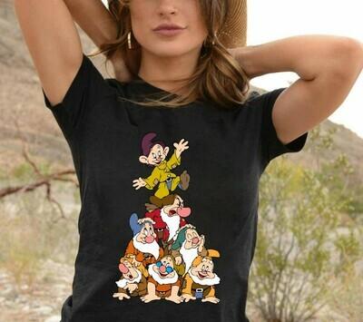 Disney Seven Dwarfs Shirt,Snow White and the Seven Dwarfs,Seven Dwarfs Friends Shirt,Walt Disney World,Grumpy Old Man,Snow White T Shirt Long Sleeve Sweatshirt Hoodie Jolly Family Gifts