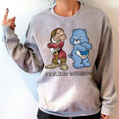 Disney Grumpy Dwarf And Grumpy Bear Feeling Grumpy T-shirt,Walt Disney World,Grumpy Seven Dwarfs Shirt,Grumpy Friends TShirt,Grumpy Old Man Long Sleeve Sweatshirt Hoodie Jolly Family Gifts
