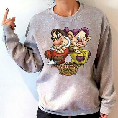 Disney Grumpy And Dopey Dwarf Shirt,Seven Dwarfs Friends Shirt,Walt Disney World,Disney Grumpy Old Man,Dopey Dwarfs T Shirt Long Sleeve Sweatshirt Hoodie Jolly Family Gifts