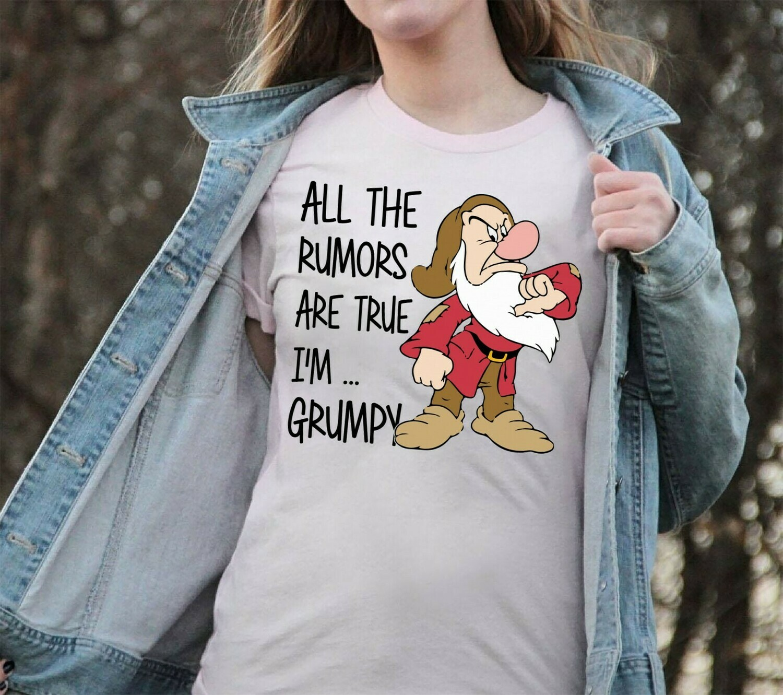 Grumpy Dwarf All The Rumors Are True I'm Grumpy,Snow White and the Seven Dwarfs,Walt Disney World,Grumpy Old Man,Dopey Seven Dwarfs T Shirt Long Sleeve Sweatshirt Hoodie Jolly Family Gifts