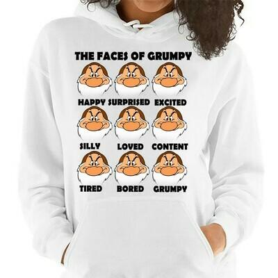 Disney Grumpy Dwarf The Face Of Grumpy,Snow White and the Seven Dwarfs,Walt Disney World,Grumpy Old Man,Dopey Seven Dwarfs T Shirt Long Sleeve Sweatshirt Hoodie Jolly Family Gifts