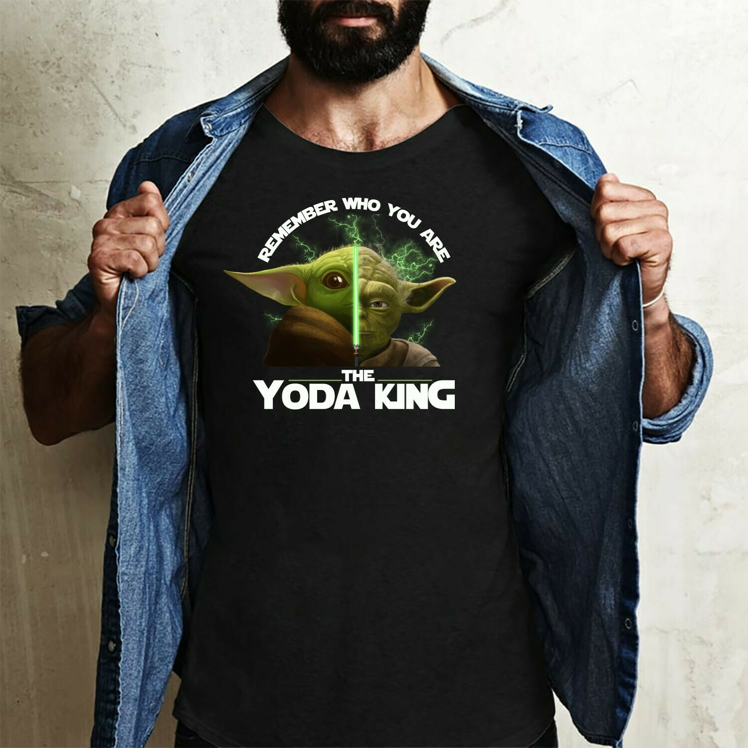 Master Yoda and Baby Yoda King,remember who you are the King in a world,Baby Yoda Is My Patronus Star Wars Parody shirt Long Sleeve Sweatshirt Hoodie Jolly Family Gifts
