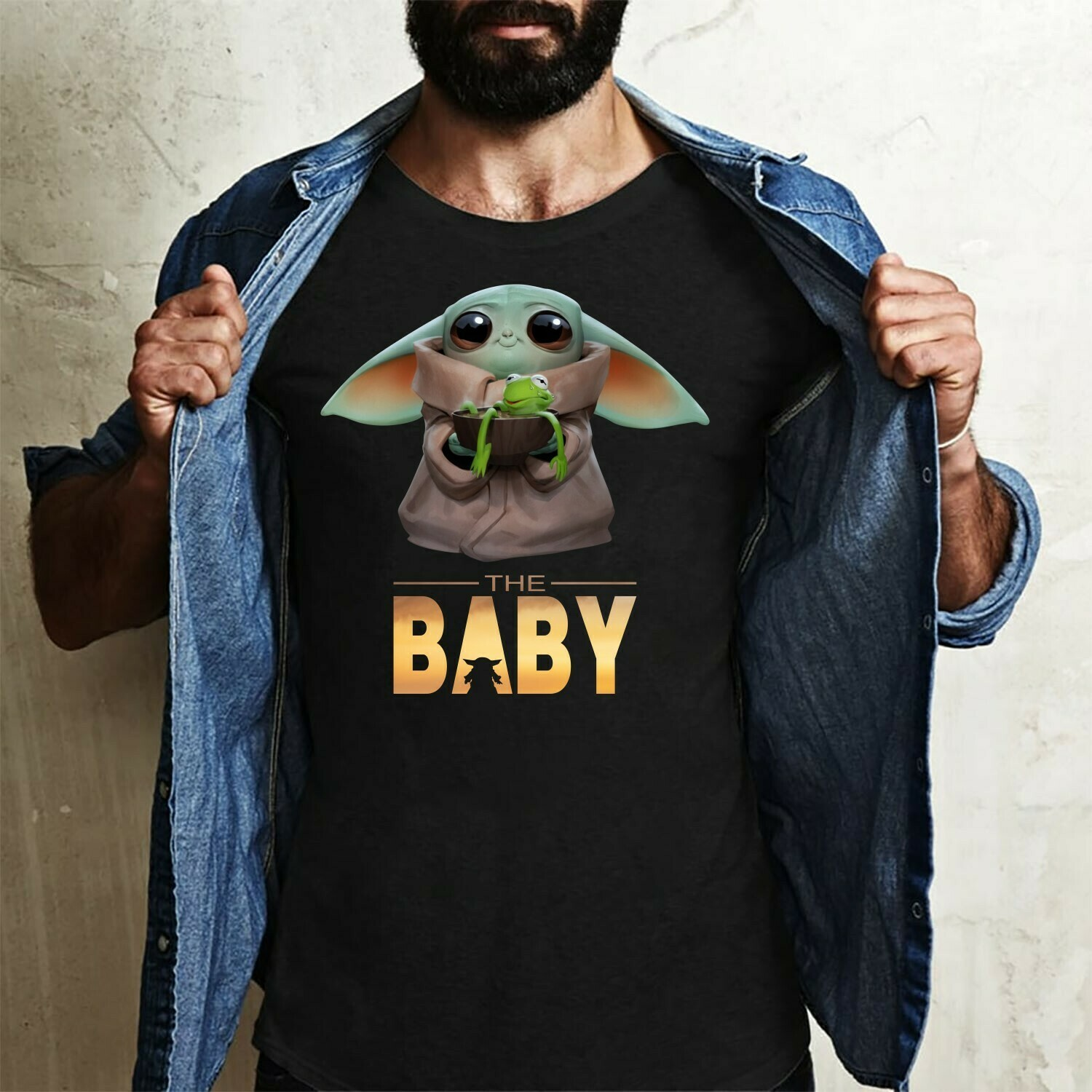The Baby Yoda christmas Spirit Animals,The Mandalorian The Child Discovery Silhouette,Baby Yoda The Child Unknown Species T-Shirt Long Sleeve Sweatshirt Hoodie Jolly Family Gifts